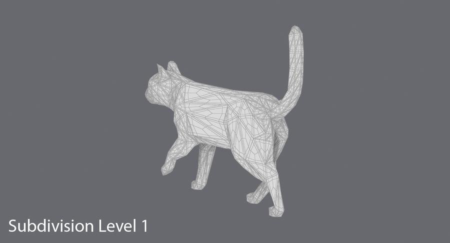 Chodzący Kot royalty-free 3d model - Preview no. 17
