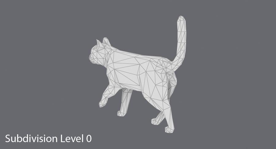 Chodzący Kot royalty-free 3d model - Preview no. 14