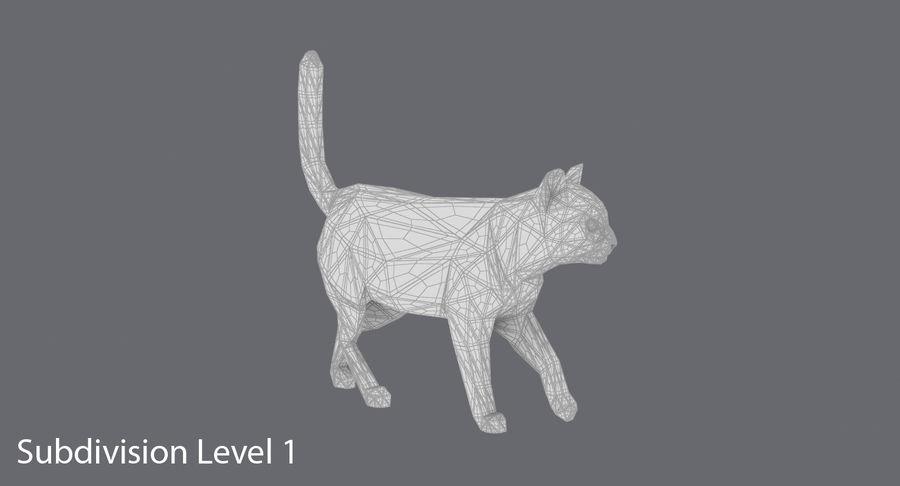 Chodzący Kot royalty-free 3d model - Preview no. 15