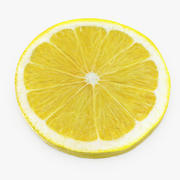 Limonlu Yuvarlak Dilim 3d model