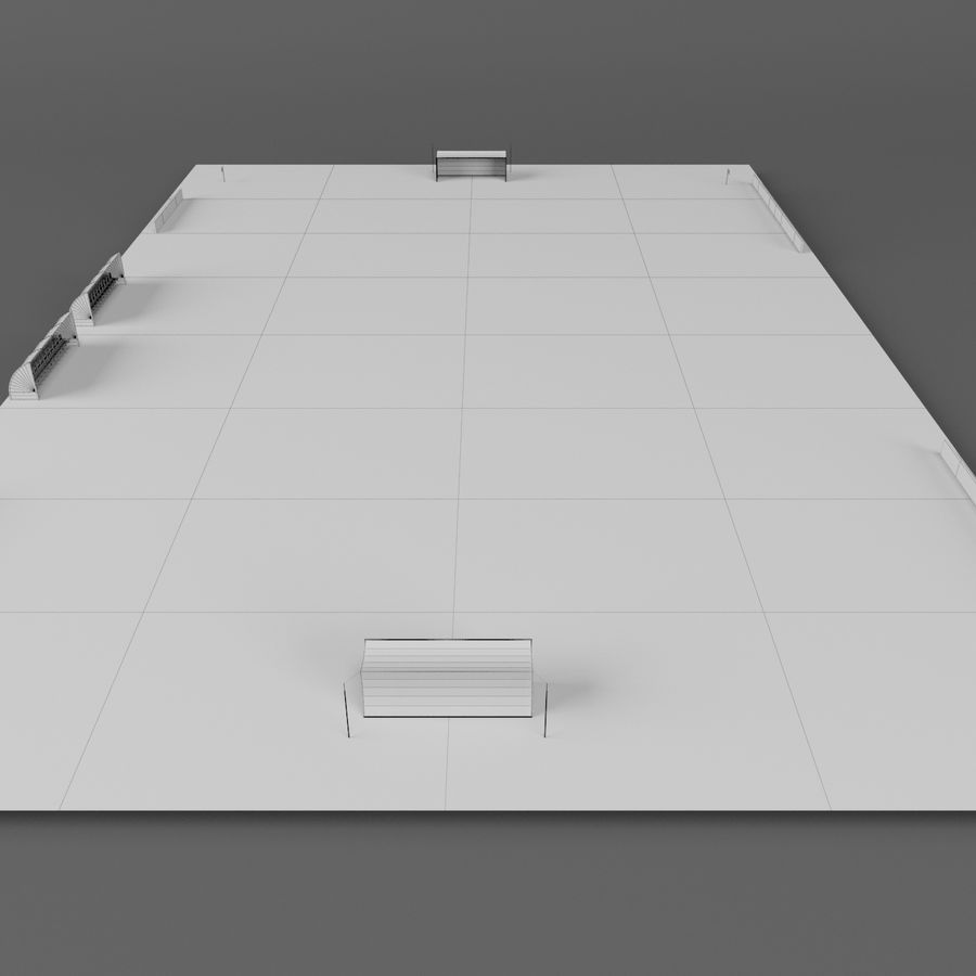Soccer Pitch 2 royalty-free 3d model - Preview no. 11
