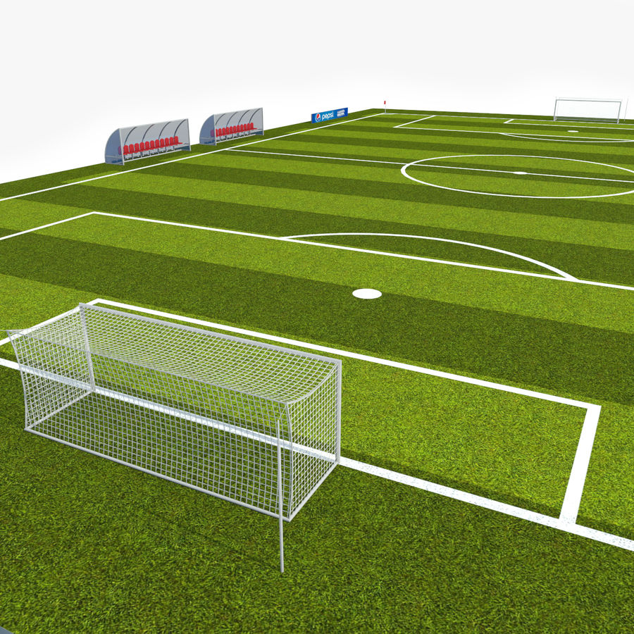 Soccer Pitch 2 royalty-free 3d model - Preview no. 4