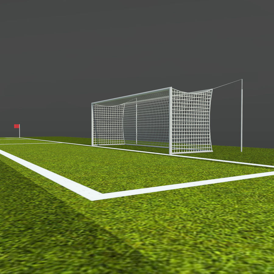 Soccer Pitch 2 royalty-free 3d model - Preview no. 9