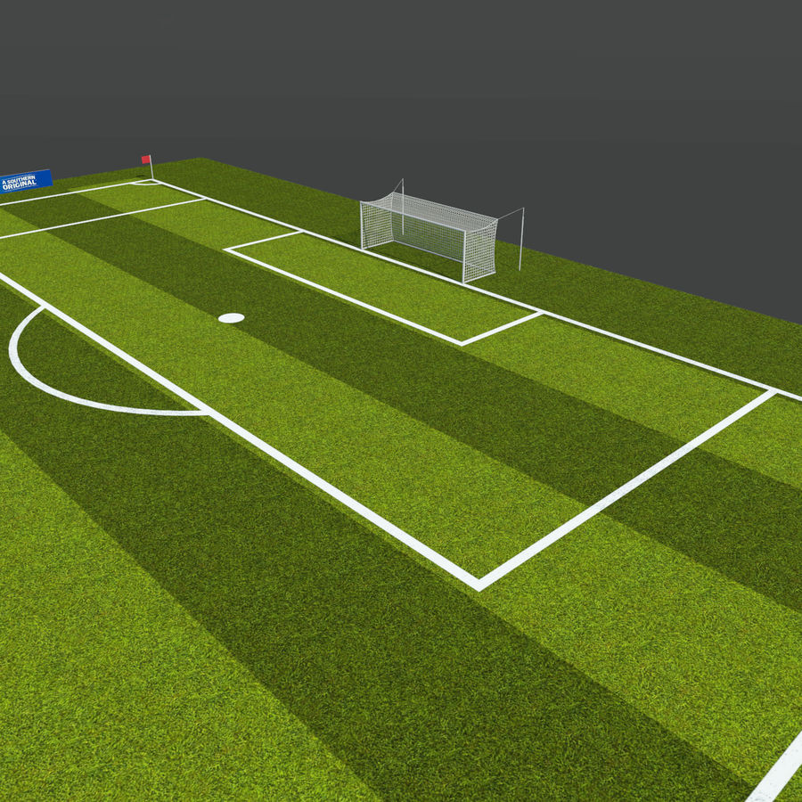 Soccer Pitch 2 royalty-free 3d model - Preview no. 8