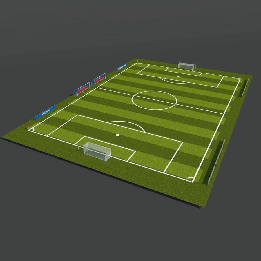 Soccer Pitch 2 royalty-free 3d model - Preview no. 2