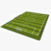 Soccer Pitch 2 3d model