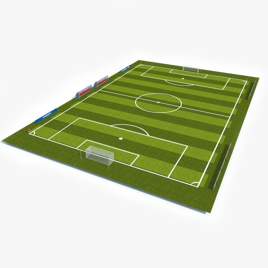 Soccer Pitch 2 royalty-free 3d model - Preview no. 1