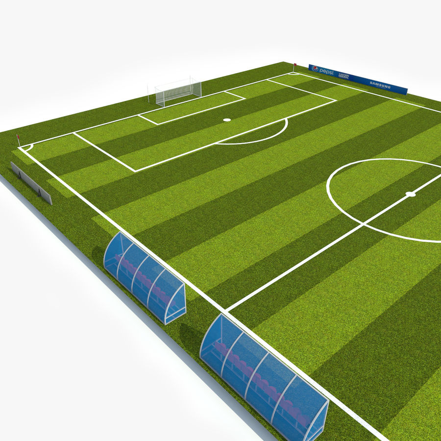 Soccer Pitch 2 royalty-free 3d model - Preview no. 5
