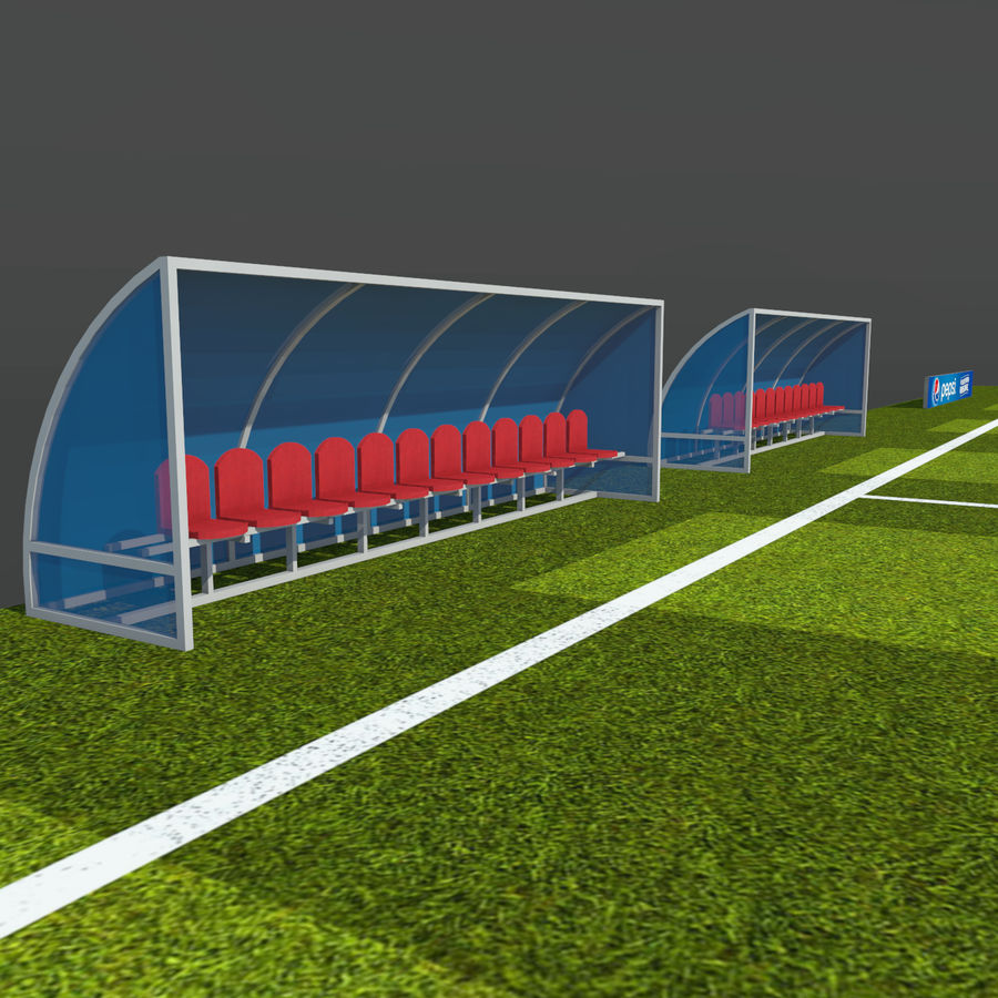 Soccer Pitch 2 royalty-free 3d model - Preview no. 10