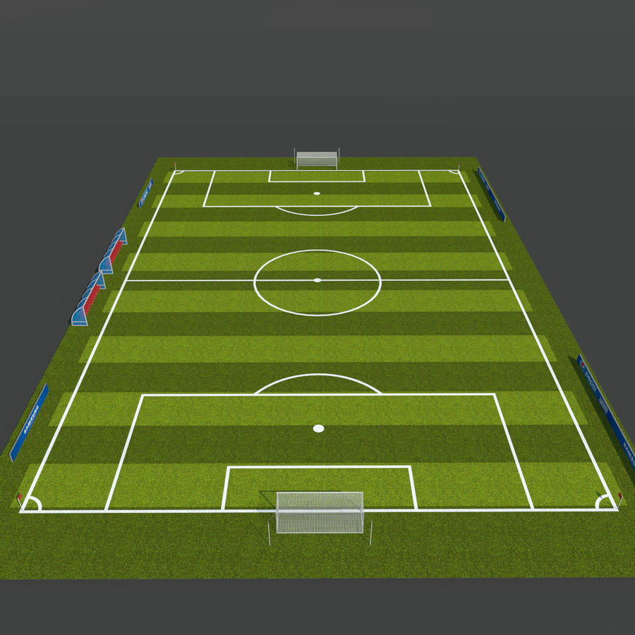Soccer Pitch 2 royalty-free 3d model - Preview no. 7