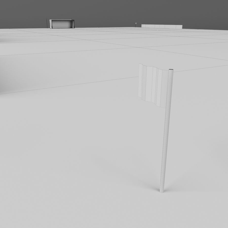 Soccer Pitch 2 royalty-free 3d model - Preview no. 22