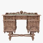 Antique writing desk 3d model