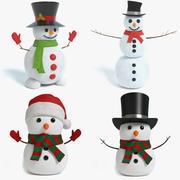 Snowman Set 3d model