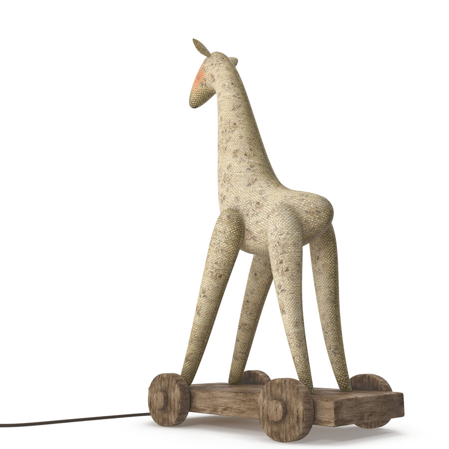 Giraffe Pull-Toy royalty-free 3d model - Preview no. 6