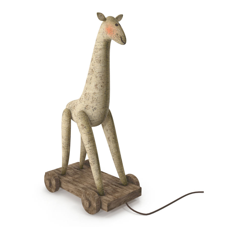 Giraffe Pull-Toy royalty-free 3d model - Preview no. 2