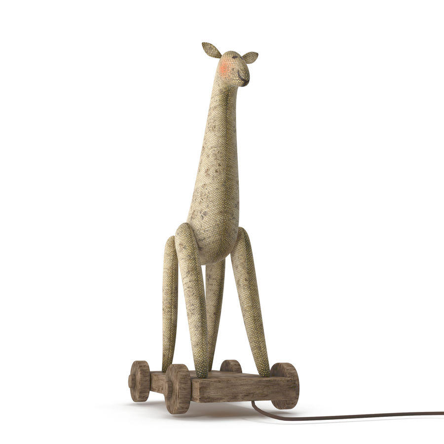 Giraffe Pull-Toy royalty-free 3d model - Preview no. 8