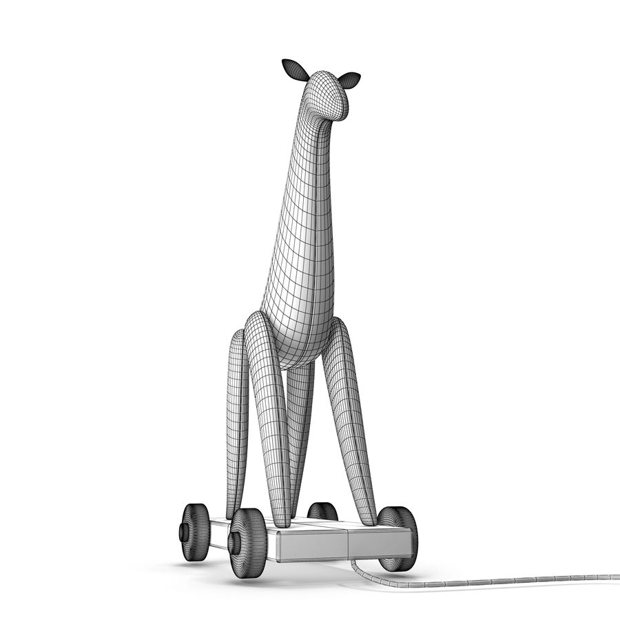Giraffe Pull-Toy royalty-free 3d model - Preview no. 9
