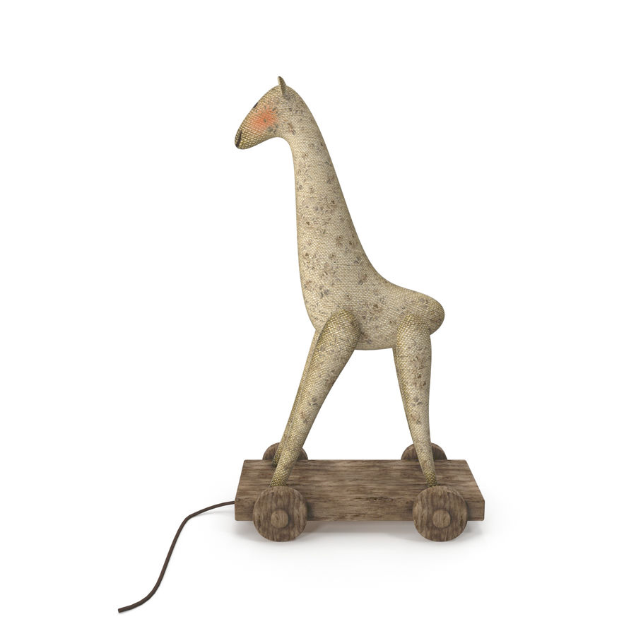 Giraffe Pull-Toy royalty-free 3d model - Preview no. 3