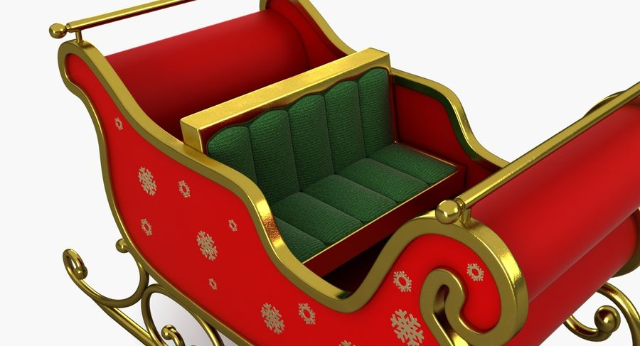 クリスマスそり royalty-free 3d model - Preview no. 9