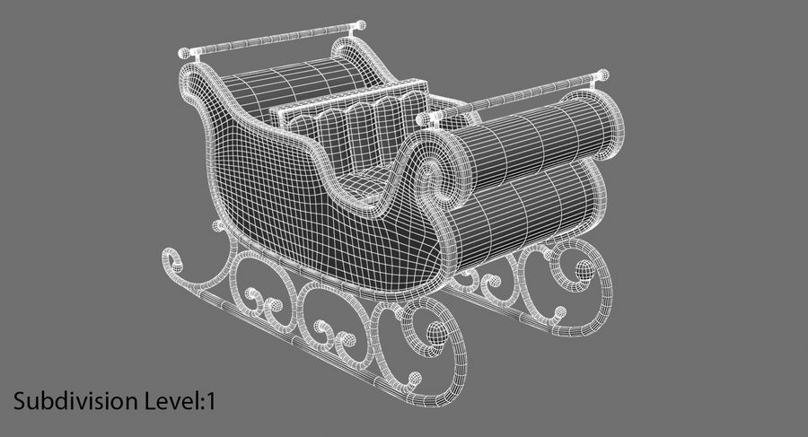 クリスマスそり royalty-free 3d model - Preview no. 17