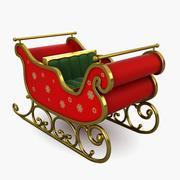 圣诞雪橇 3d model