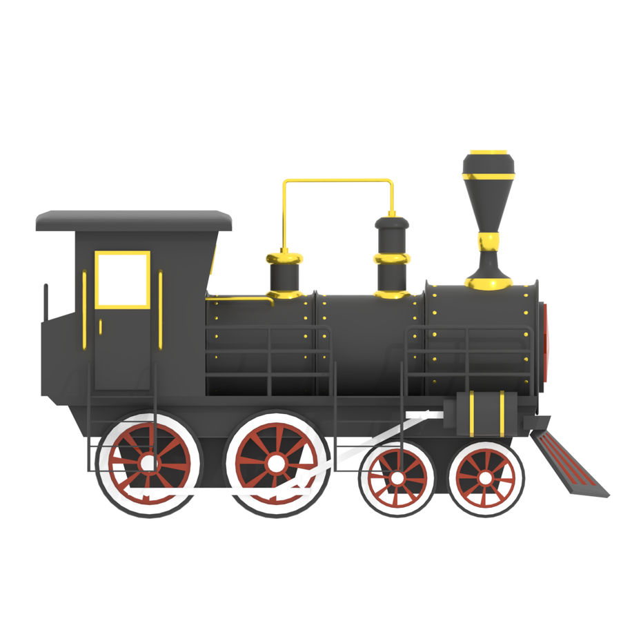 Steam Locomotive royalty-free 3d model - Preview no. 6