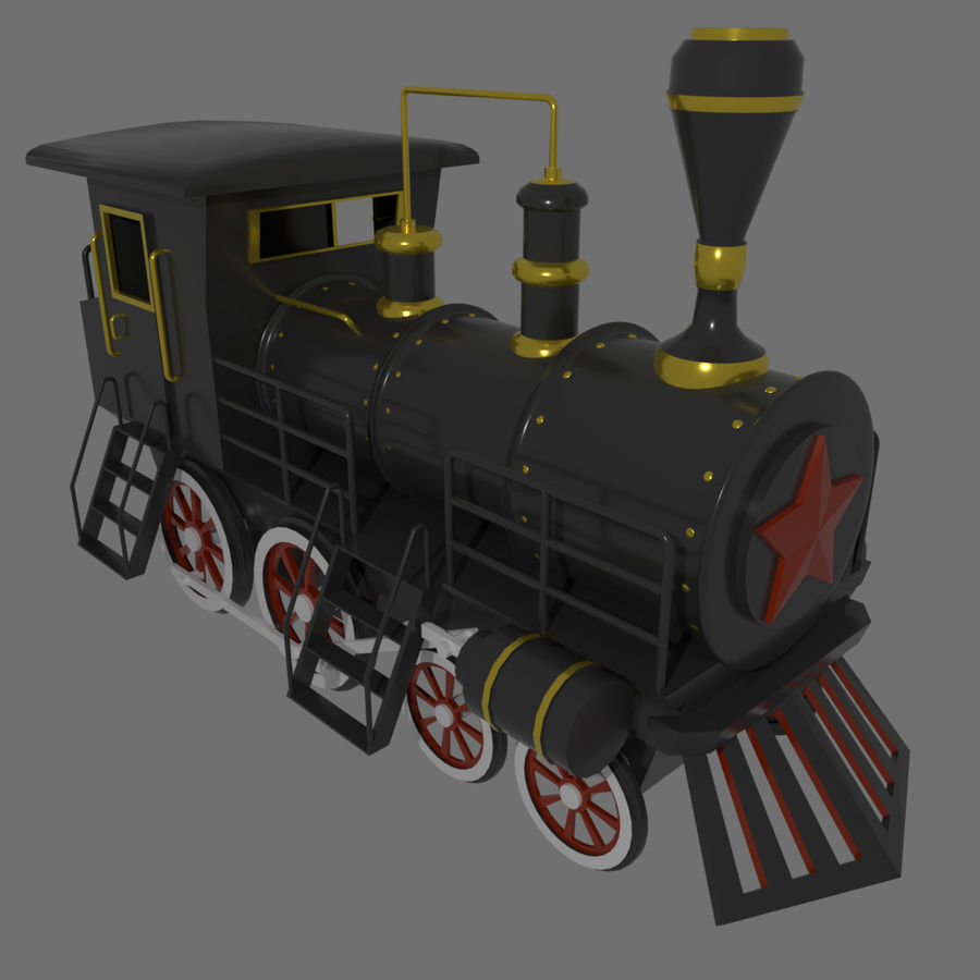 Steam Locomotive royalty-free 3d model - Preview no. 2