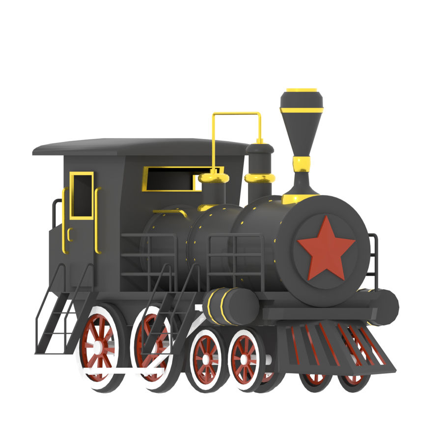 Steam Locomotive royalty-free 3d model - Preview no. 7