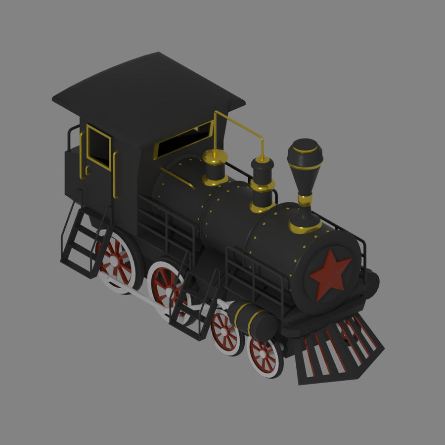 Steam Locomotive royalty-free 3d model - Preview no. 8