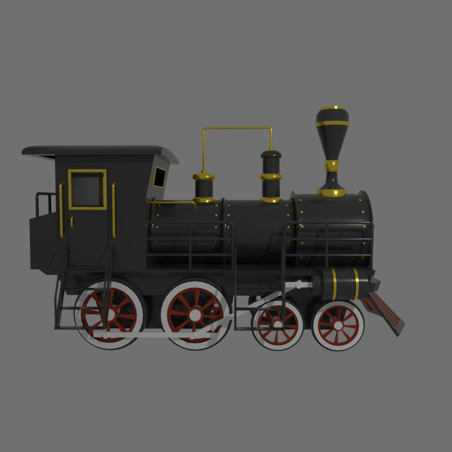 Steam Locomotive royalty-free 3d model - Preview no. 3