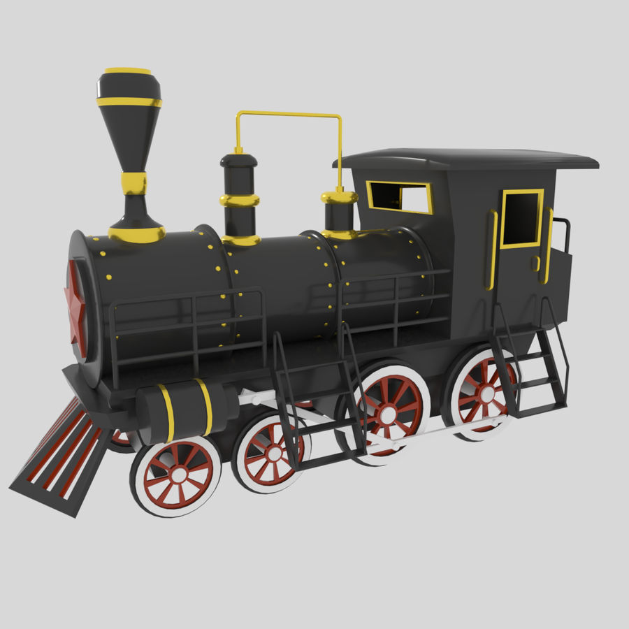 Steam Locomotive royalty-free 3d model - Preview no. 1