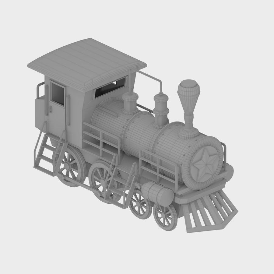 Steam Locomotive royalty-free 3d model - Preview no. 9
