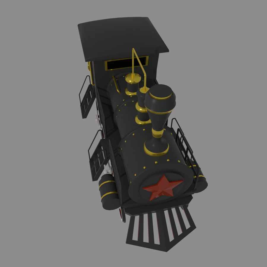 Steam Locomotive royalty-free 3d model - Preview no. 5