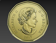 1 Dollar Canadian Coin 3d model