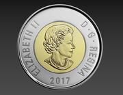 2 dolary kanadyjskie monety 3d model