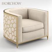 황금빛 곡선 의자 Horchow 3d model