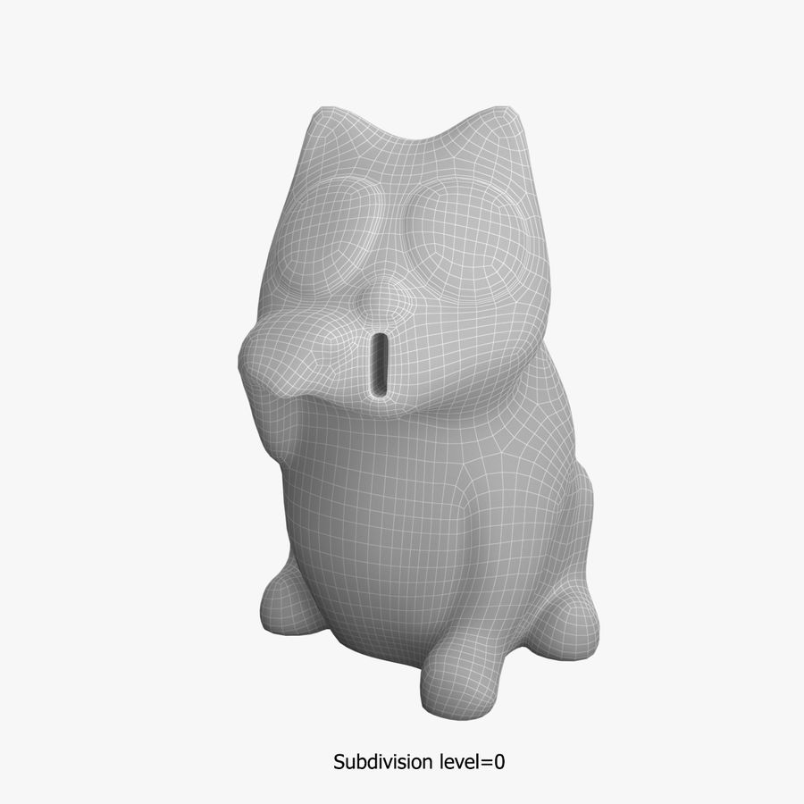 Skarbonka royalty-free 3d model - Preview no. 3