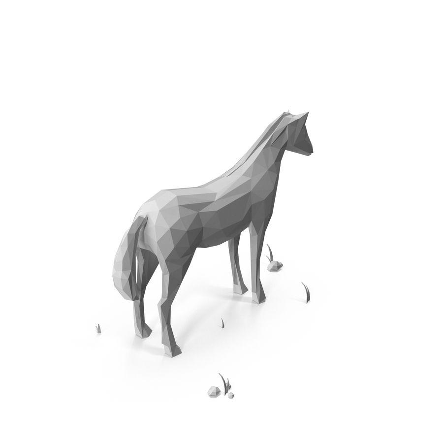 Djur med låg poly (häst) royalty-free 3d model - Preview no. 3