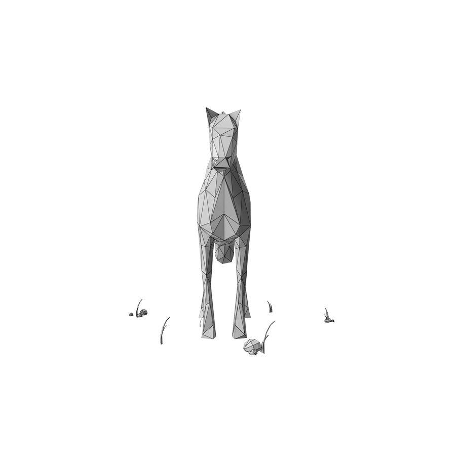 Djur med låg poly (häst) royalty-free 3d model - Preview no. 9