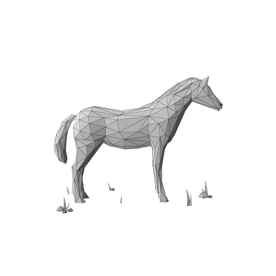 Djur med låg poly (häst) royalty-free 3d model - Preview no. 11