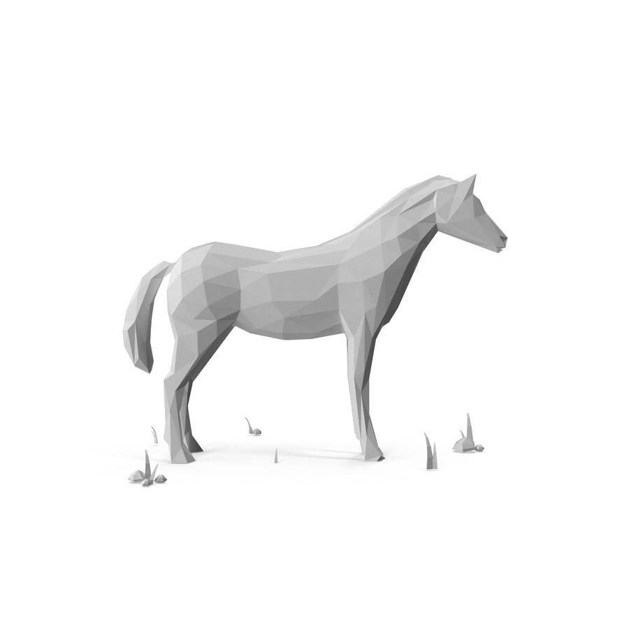 Djur med låg poly (häst) royalty-free 3d model - Preview no. 6