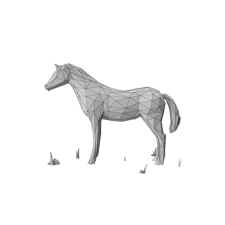Djur med låg poly (häst) royalty-free 3d model - Preview no. 10