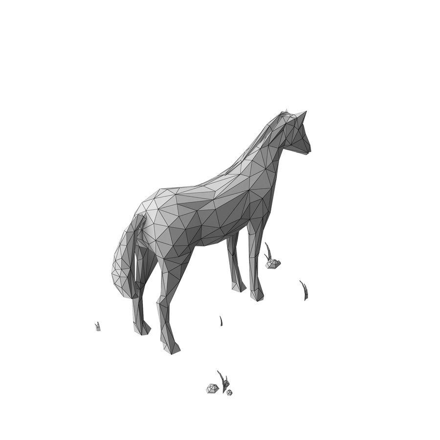 Djur med låg poly (häst) royalty-free 3d model - Preview no. 8