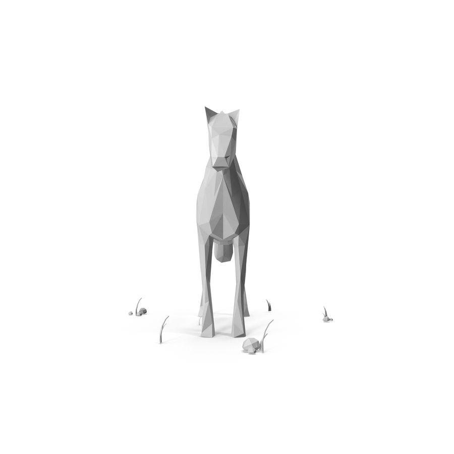 Djur med låg poly (häst) royalty-free 3d model - Preview no. 4
