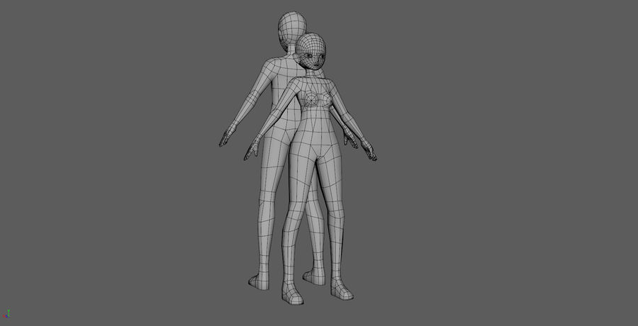 Anime Base LowPolygon royalty-free 3d model - Preview no. 5