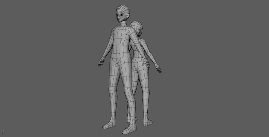 Anime Base LowPolygon royalty-free 3d model - Preview no. 3