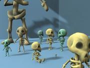 Szkieletowy przyjaciel 3d model