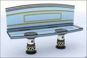 Sci-Fi Bench V1 3d model