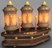 蒸汽朋克Lamp02 3d model