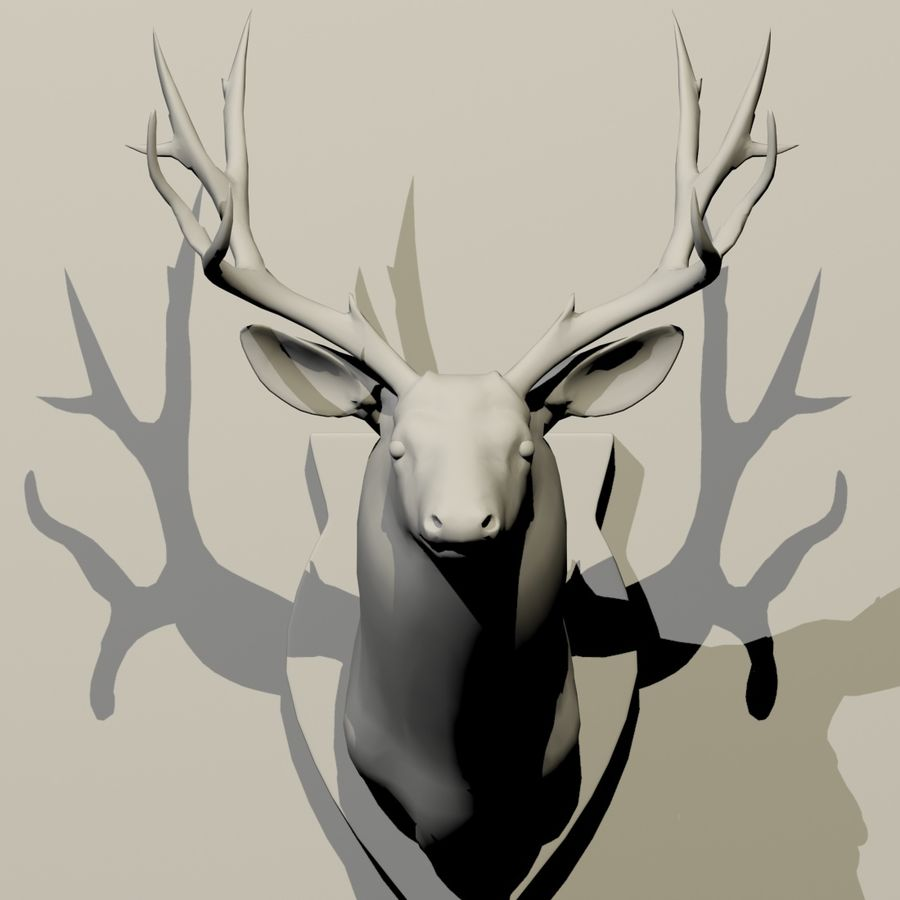 Taxidermie cerf royalty-free 3d model - Preview no. 9